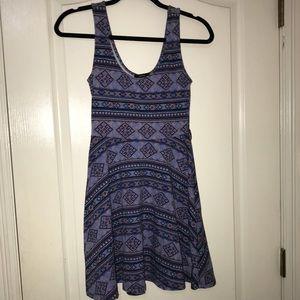 Purple Pattern Forever 21 Summer Dress